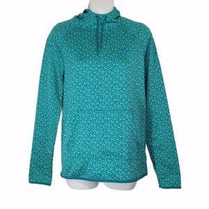 Nike Aqua Speckled Therma-Fit Drawstring Hoodie S